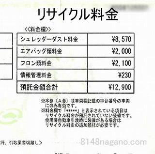 リサイクル料金